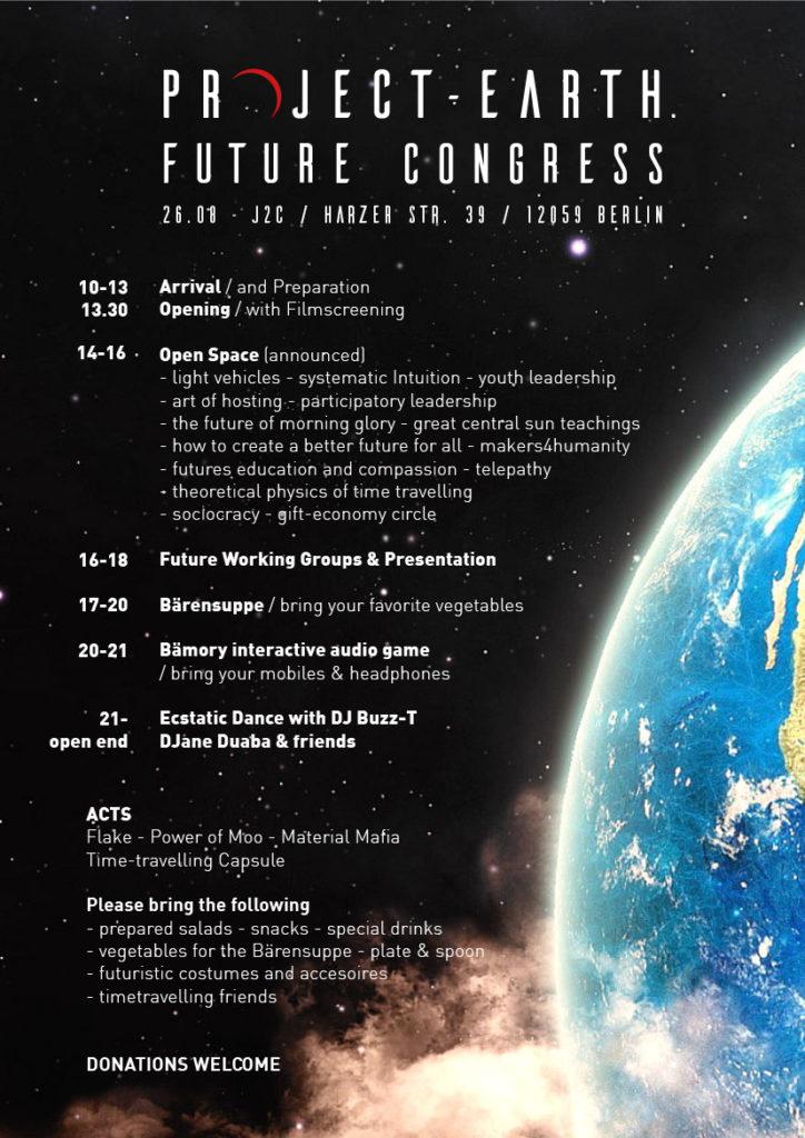 Project-Earth Future Congress Program